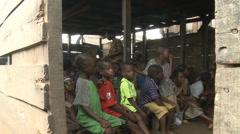 School Children class, Makoko floating slum Stock Footage