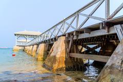Bridge of pavilion Stock Photos