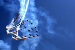 Aerobatic team at airshow - stock photo