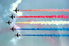 Aerobatic team at airshow Stock Photos