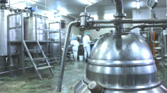 Yogurt and milk  factory Stock Footage