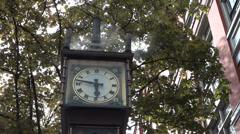 Vancouver Landmark - Steam Clock - 02 - Singing Sound Stock Footage