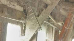 Rusty Rake Shed Cobwebs - 29,97FPS NTSC Stock Footage