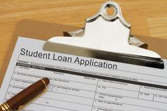 student loan application form - stock illustration