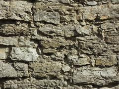 Detail of a wall relief ancient fortification Stock Photos