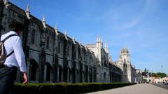 Jerónimos Monastery, Lisbon Stock Footage