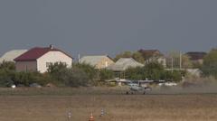 White Cessna A-150L Aerobat takes off Stock Footage