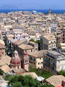 Aerial view of mediterranean city Stock Photos