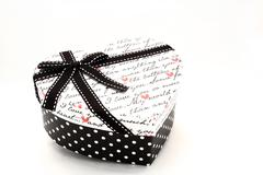 Isolated heart gift box for love concept Stock Photos