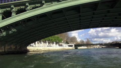 The Bridges over the River Seine in Paris - stock footage