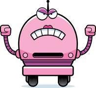 Vihainen nainen robotti Piirros