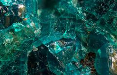 Chrysocolla is a hydrated copper silicate mineral. macro Stock Photos