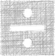 division sign - freehand symbol - stock illustration