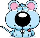 Stock Illustration of cartoon goofy baby mouse