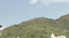 Rishikesh-Laxman Jhula low angle Stock Footage