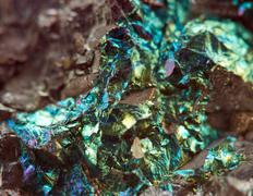 Fantastic background, magic of a stone,  metal rock (big collection ).Macro - stock photo