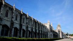 Jeronimos monastery Lisbon Stock Footage