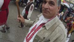 Carnival of Humor in Gabrovo - mummers Stock Footage