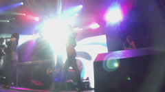 concert, music, dance, light effects, - stock footage