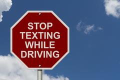 Stop texting while driving sign Piirros