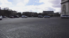 Famous roundabout around the Arc the Triomphe Stock Footage