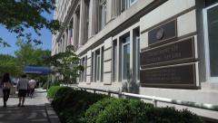 Department of Veteran Affairs, VA, headquarters building, Washington Stock Footage