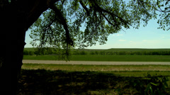 Kansas highway in the Flint Hills Stock Footage