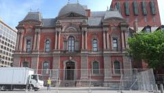 Closed for Renovation, Renwick Gallery, zoom out - stock footage