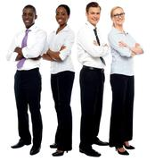 The elite business team - stock photo