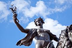 Angel of Justice buckingham palace, London, UK Stock Photos