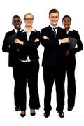 Stock Photo of Full length shot of business team