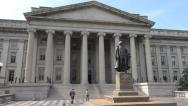 Stock Video Footage of Treasury Department building, DC, West front 4k