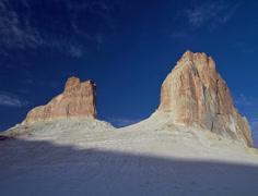Beautiful cliffs sunset timelapse 2K Stock Footage