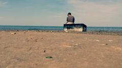 Slow motion Footage shot in Lake Michigan Stock Footage