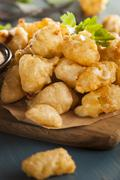 beer battered wisconsin cheese curds - stock photo