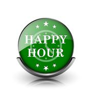 happy hour icon - stock illustration