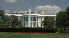 White House, south front, lawn, oval office, zoom, Stock Footage