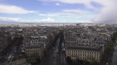 Aerial view of the city of Paris the city of love - stock footage