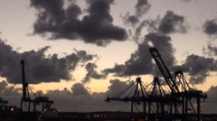 Bahamas - Freeport - Industrial Port Stock Footage