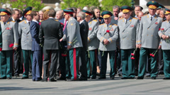 Сeremony of laying flowers to the Tomb of the Unknown Soldier Stock Footage