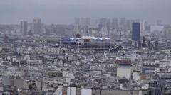 Modern building Centre Pompidou - stock footage