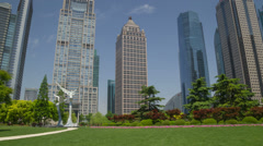 Pudong park day hyperlapse 4K - stock footage