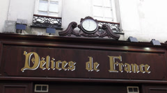 French deli shop in Paris - stock footage