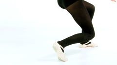 Feet of dancer moving slow motion Stock Footage