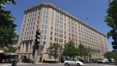 Department of Veteran Affairs, VA, headquarters building, Washington 4k - stock footage
