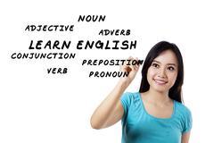 english language materials - stock illustration