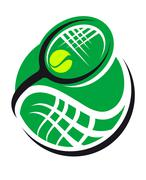 Tennis ball and racquet icon Stock Illustration