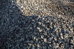 Pile of crushed stones Stock Photos