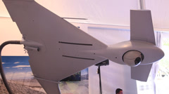 The IAI Harop is an unmanned combat air vehicle UCAV Stock Footage