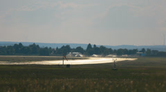 Airport, Germany, airplanes taking off and landing Stock Footage